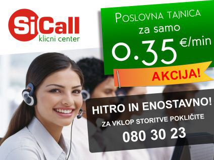 Klicni center SiCall akcija maj 2015